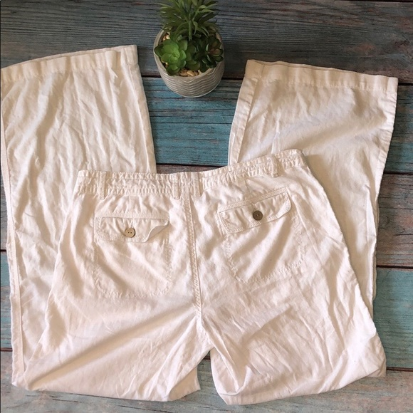 GAP Pants - 🌸 3/$15🌸Gap Hadley white, wide leg size 10 pants